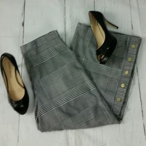Who What Wear Houndstooth Wide Leg Pant